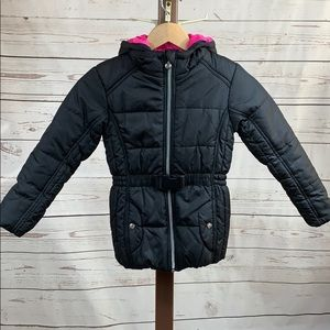 R 88 by S. Rothschild Black Belted Puffer Jacket